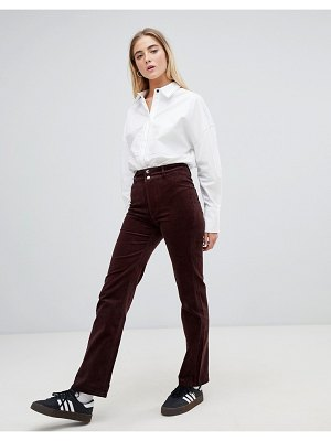 Weekday cord fitted pants