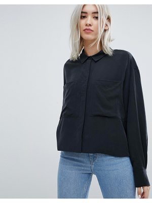 Weekday Crop Cupro Blouse
