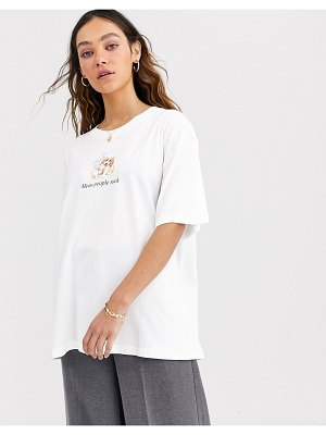 Weekday easy oversized t-shirt mean people in white
