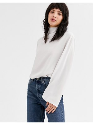 Weekday evelina blouse in off white