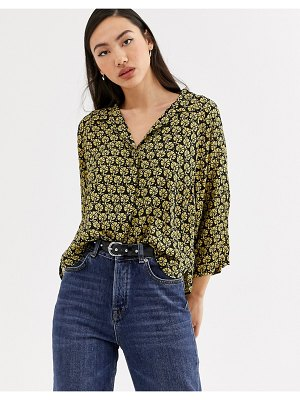Weekday franca geo print shirt in multi