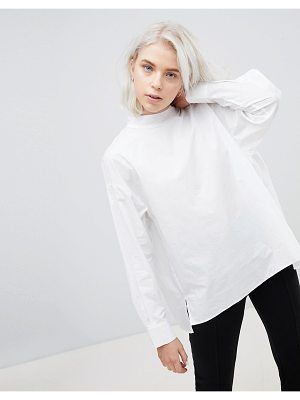 Weekday High Neck Pleat Back Shirt