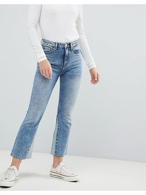 Weekday High Waist Crop Jeans With Hem Insert