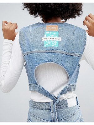 Weekday limited collection denim tank with back buckle detail