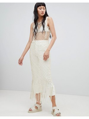 Weekday Limited Edition Rope Fringe Bodycon Dress