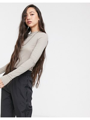 Weekday meja long sleeve top in gray