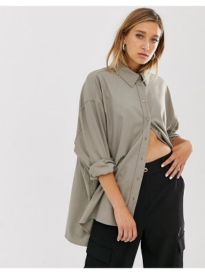 Weekday overshized shirt in light gray mole