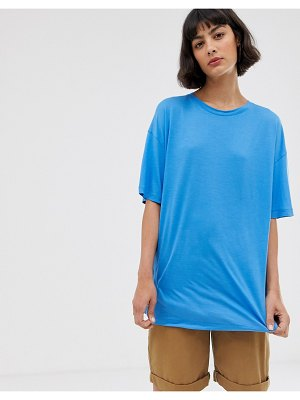 Weekday oversized tee in bright blue
