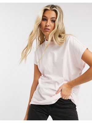 Weekday prime organic cotton t-shirt in pink