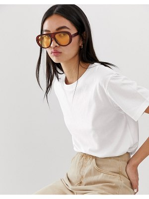 Weekday relaxed fit crew neck t-shirt in white