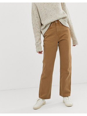 Weekday row slim straight jeans with organic cotton