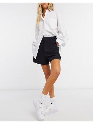 Weekday tica recycled pull on shorts in black