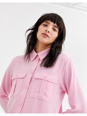 Weekday violet utility shirt in pink