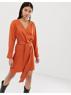 Weekday wrap front dress