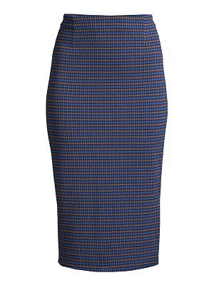 Weekend Max Mara caravan houndstooth plaid pencil skirt