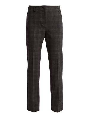 Weekend Max Mara Prince of Wales-check wool-blend trousers