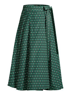 Weekend Max Mara printed a-line midi skirt