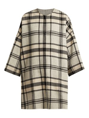 Weekend Max Mara reversible checked wool blend coat