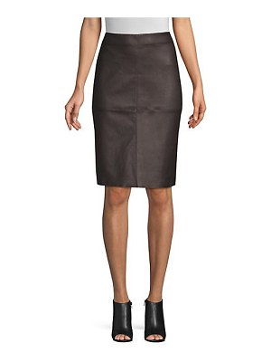 Weekend Max Mara salima leather pencil skirt
