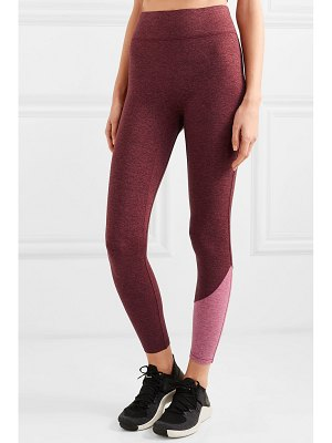 We/Me the inversion two-tone stretch-jersey leggings