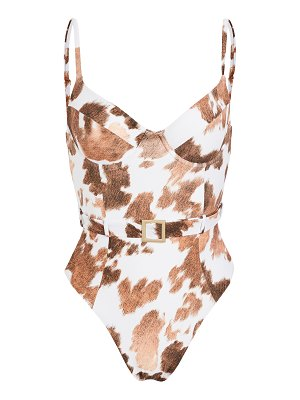 WeWoreWhat danielle cowhide one piece
