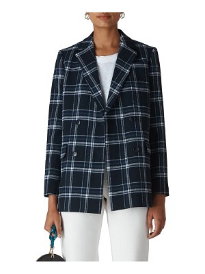 Whistles double breasted check blazer