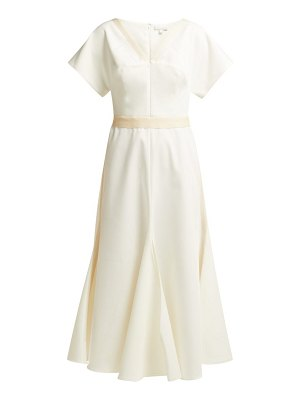 White Story camilla twill midi dress