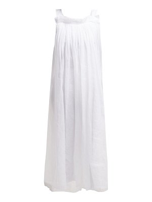 White Story eliza side-slit cotton-organza midi dress