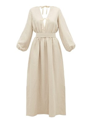 White Story greta linen maxi dress