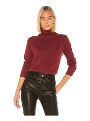 White + Warren cashmere funnel neck pullover