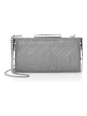 Whiting & Davis chevron frame convertible clutch