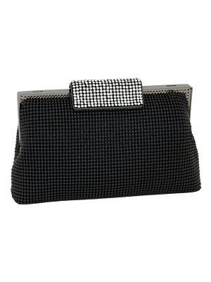 Whiting & Davis Crystal Clasp Clutch Bag