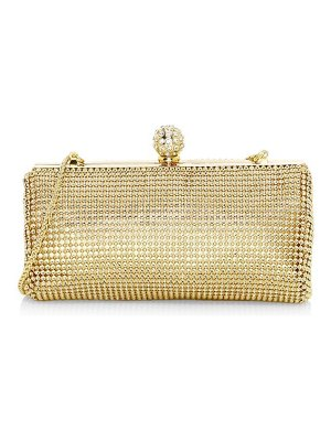 Whiting & Davis crystal ball metal mesh clutch