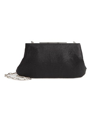 Whiting & Davis mesh frame clutch