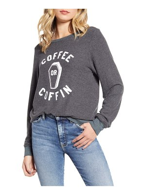 Wildfox baggy beach jumper coffee or coffin pullover
