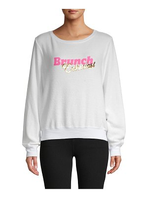 Wildfox Brunch Enthusiast Graphic Sweatshirt