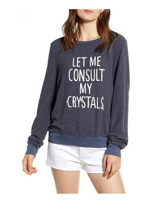 Wildfox consult my crystals baggy beach pullover
