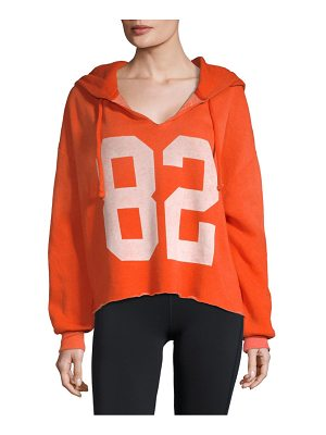 Wildfox Graphic Cropped Hoodie