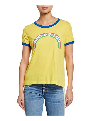 Wildfox Just Do You Johnny Ringer Short-Sleeve Slogan T-Shirt