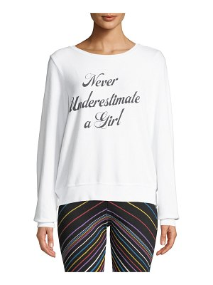 Wildfox Never Underestimate A Girl Pullover Sweater