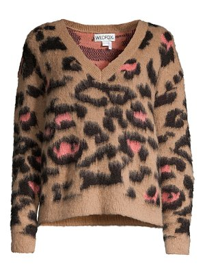Wildfox preppy kitty wool & mohair-blend sweater
