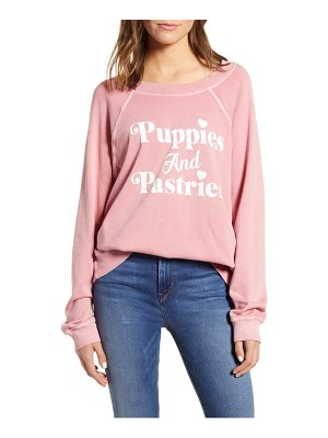 Wildfox puppies and pastriespullover