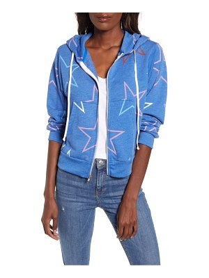 Wildfox regan starlight zip hooded sweatshirt