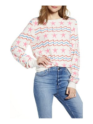 Wildfox sea stars & stripes baggy beach pullover