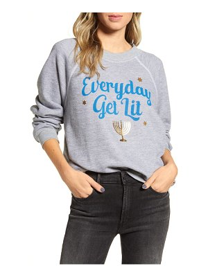 Wildfox sommers everyday get lit cotton sweatshirt