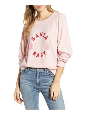 Wildfox sommers santa baby brushed fleece sweatshirt