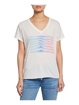 Wildfox Super Saturdazed Cotton Tee