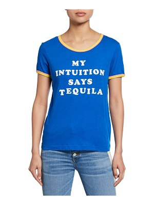 Wildfox Tequila Intuition - Double Ringer Slogan Tee