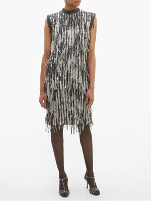 William Vintage christian dior sequin and feather shift dress