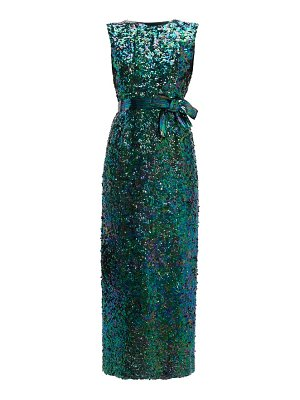 William Vintage norman norell 1965 mermaid sequinned gown